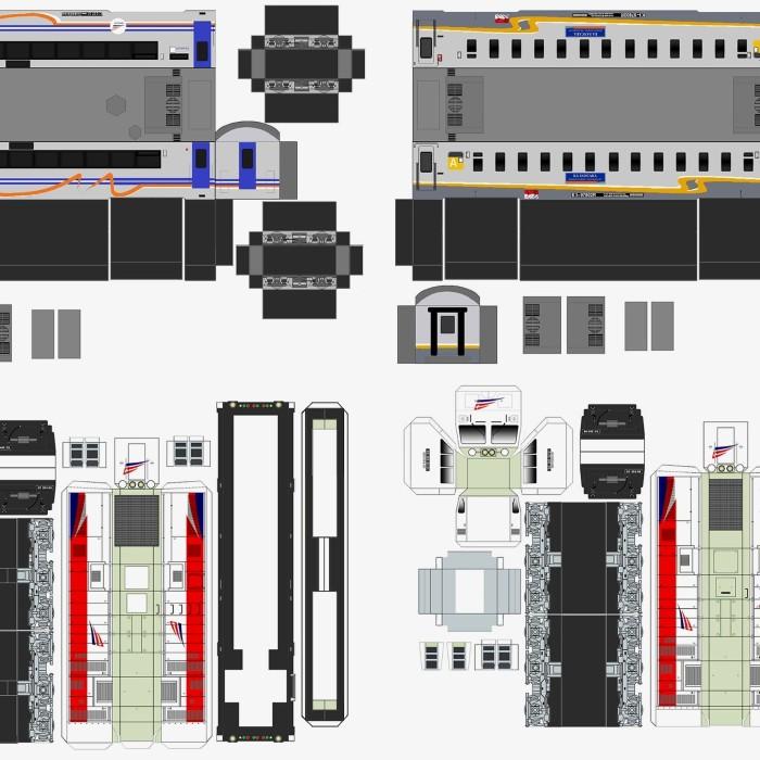 papercraft: Pola Papercraft Gerbong Kereta Api