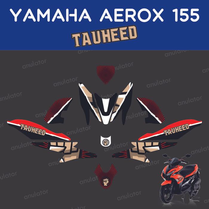 Foto Produk Sticker striping motor stiker Yamaha Aerox 155 tauheed sunnah decal dari anulator-custom