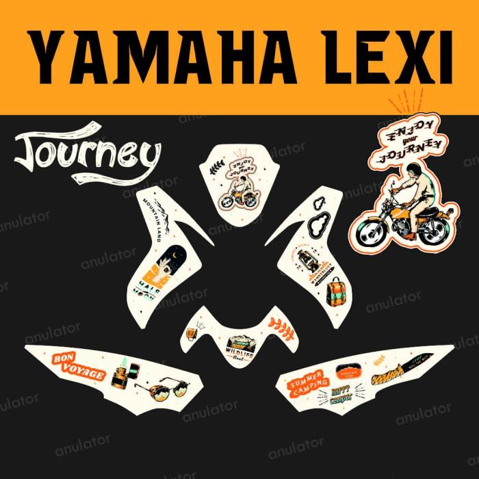 Foto Produk Sticker striping motor stiker Yamaha Lexi Journey Decal Vinyl Custom dari anulator-custom