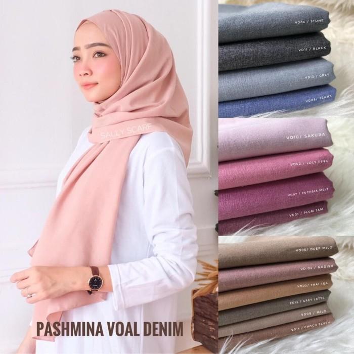 Jual Pashmina Voal Denim Hijab Voal Syari Jakarta Timur Hijabstore22 Tokopedia