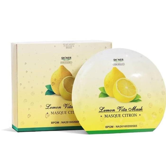 Jual Sale Skiner Masker Kulit Wajah Lemon Vita Skinner Tissue
