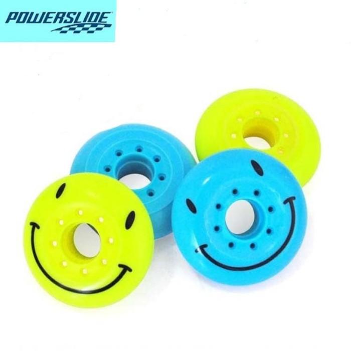 harga Roda / wheel inline skate / sepatu roda powerslide smile Tokopedia.com