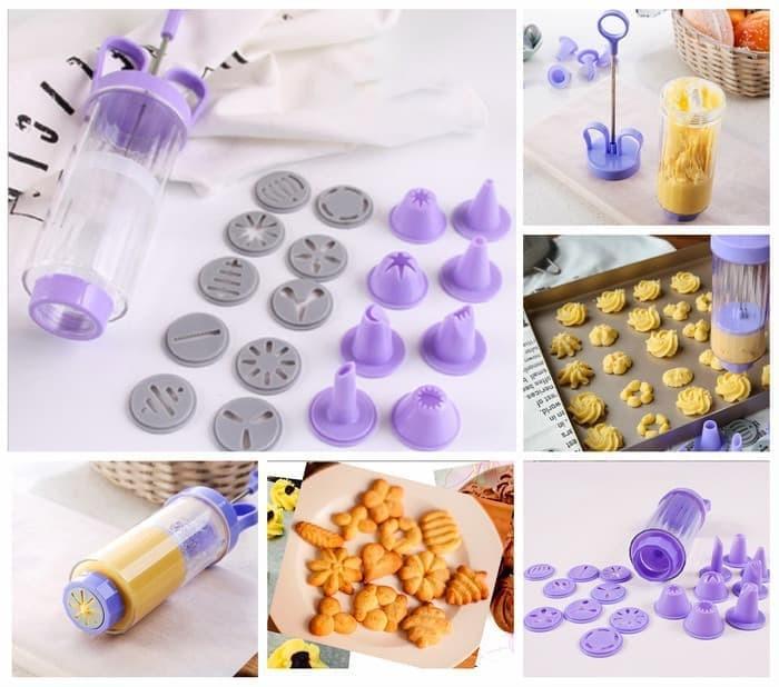 Foto Produk 9929 Alat hias kue Set Cetakan Kue Kering 10 motif cetakan dan 8 cone dari terangjaya88