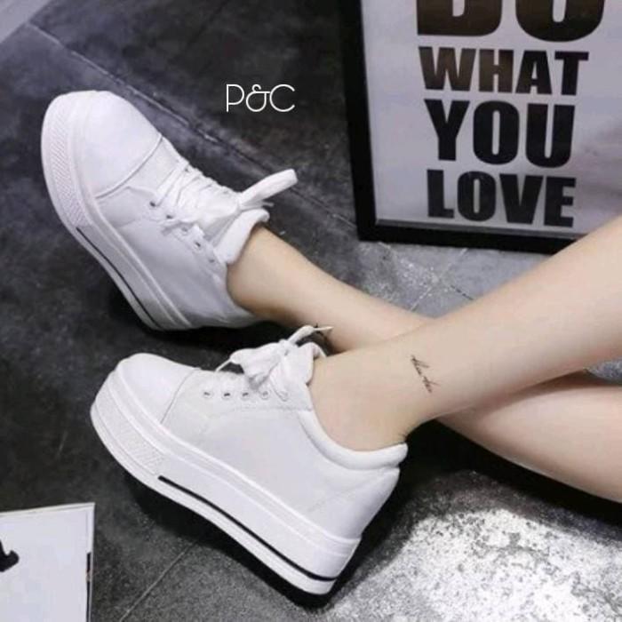 Jual Sepatu Wanita Warna Putih Sol 5cm Sneakers Wedges Park Min
