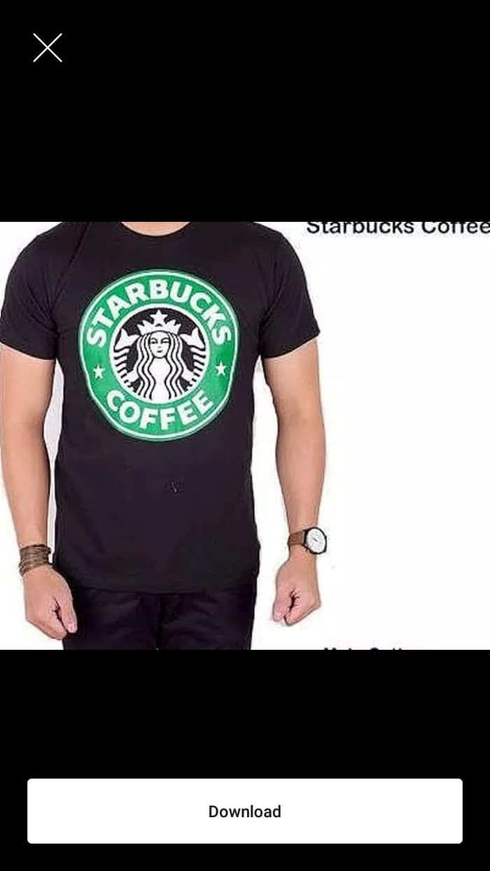 Jual Kaos Baju Obral Bed 30S Distro STARBUCKS COFFEE Kopi Polos Custom Jakarta Pusat Con Jersey