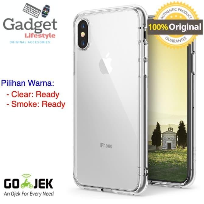 Foto Produk Original Ringke Fusion Case iPhone X - Clear / Smoke Black - Putih dari GadgetLifestyleShop