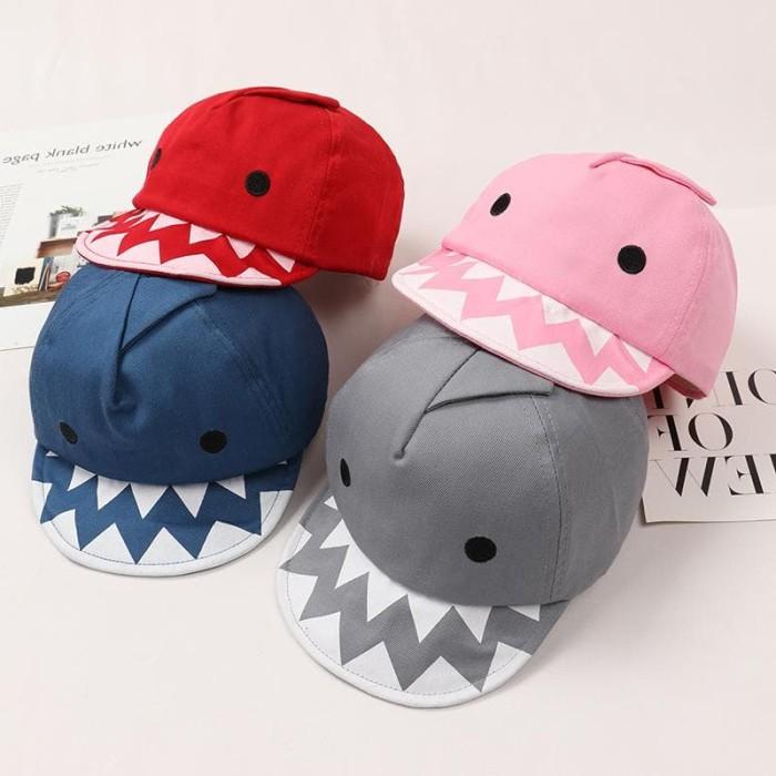 harga Topi anak model hiu lucu termurah / topi shark - merah muda Tokopedia.com