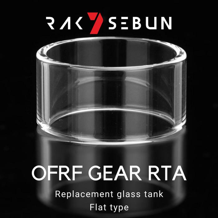 Foto Produk OFRF GEAR RTA Glass Kaca FLAT LURUS Replacement Tank 24mm 24 mm dari rakisebun