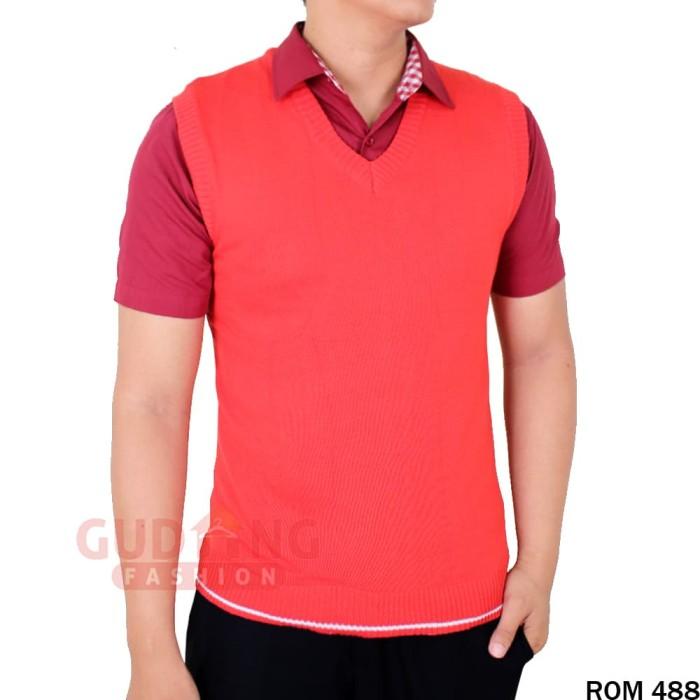Outerwear Pria Rompi Rajut ROM 488