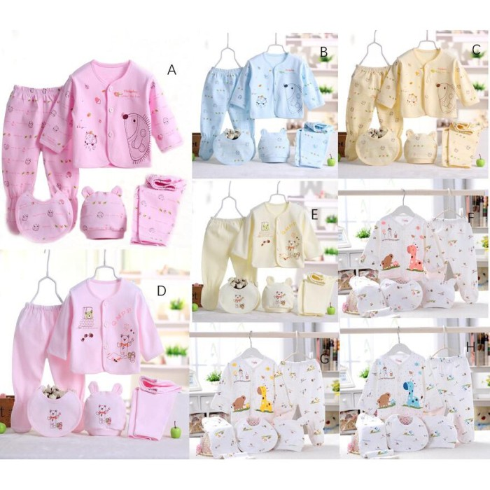 Jual 5 Pcs Set Pakaian Bayi Dan Anak Laki Laki Perempuan Baru Lahir Kota Depok Larisnastore Tokopedia