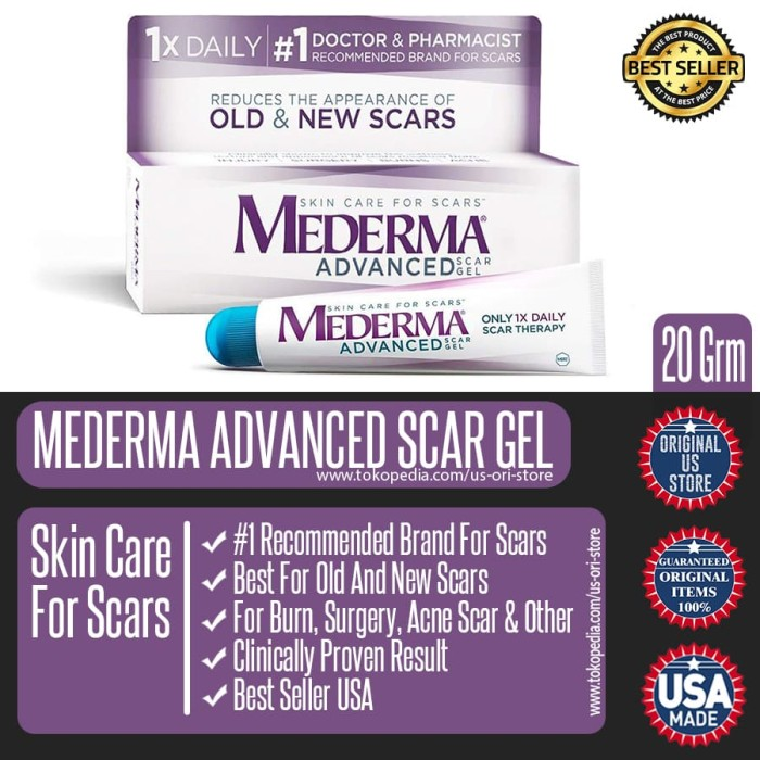 harga Mederma advanced scar gel - penghilang bekas luka terbaik original usa Tokopedia.com