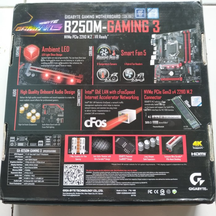 Jual Motherboard Gigabyte B250M Gaming 3 ( LGA 1151 , B250, Kabylake) -  Kota Semarang - Galaxy Co Media | Tokopedia
