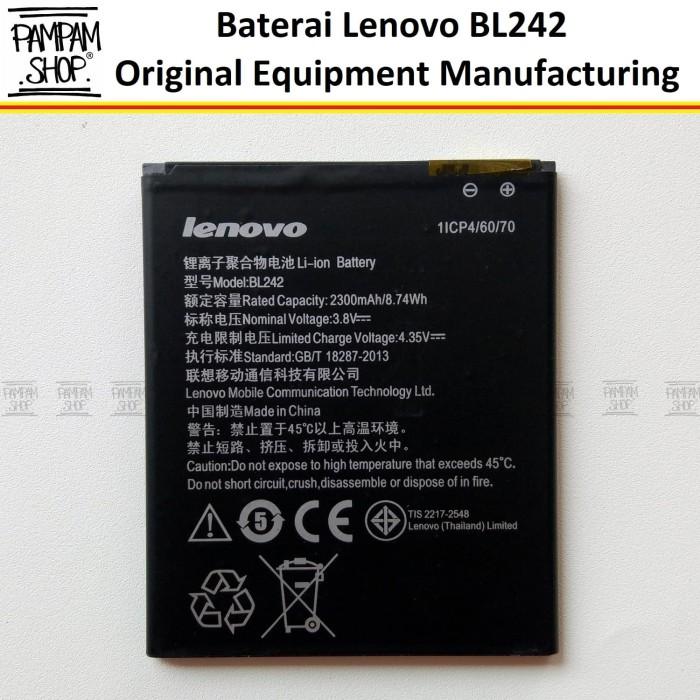 harga Baterai handphone lenovo a6000 + plus bl242 original   bl 242 a6000+ Tokopedia.com