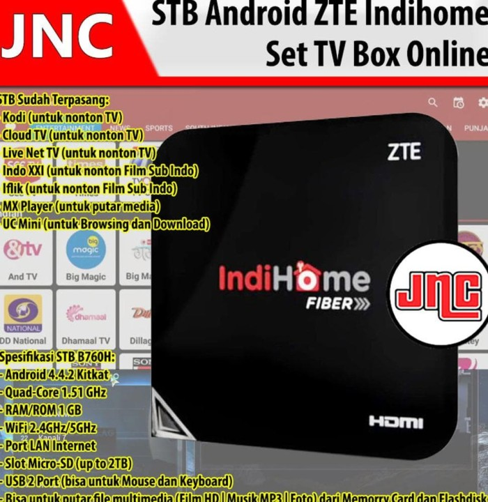 Jual Stb Android Online Tv Set Top Box Zte Zxv10b760h Hybird Plus Aplikasi  - Dki Jakarta - Connie Anakotta | Tokopedia