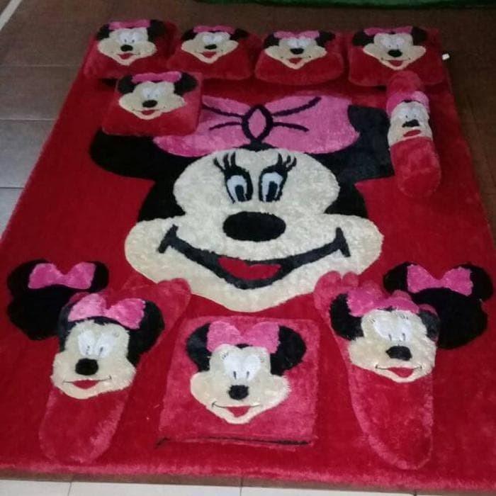 Surpet kasur karpet karakter model mickey mouse full set Terbaik
