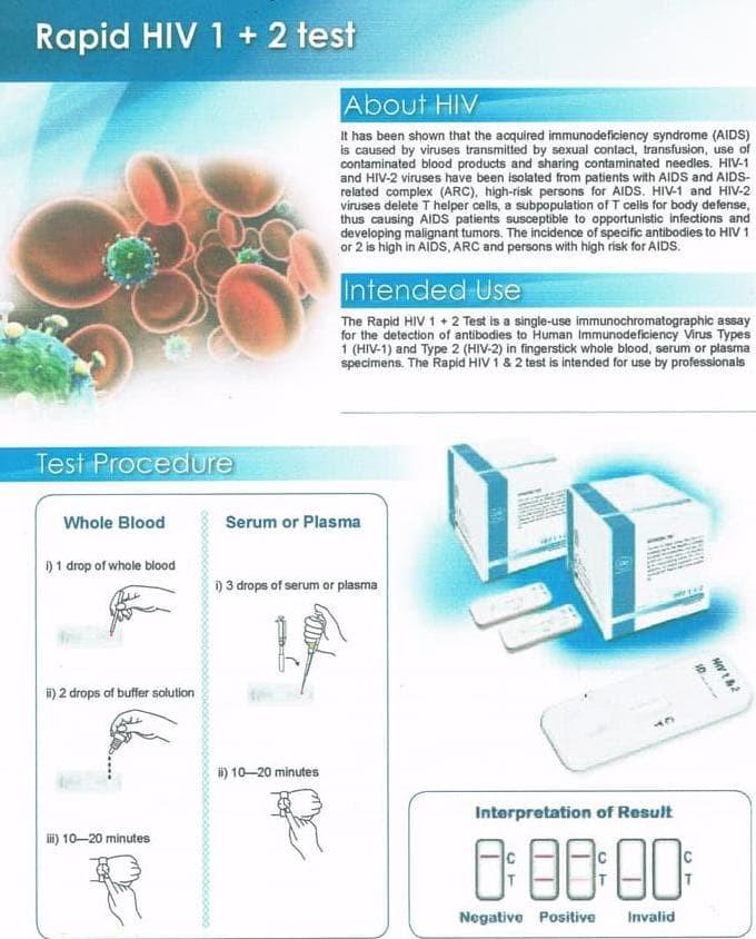 Jual Hiv Virus Home Test Kit Jakarta Utara Mellodymart48