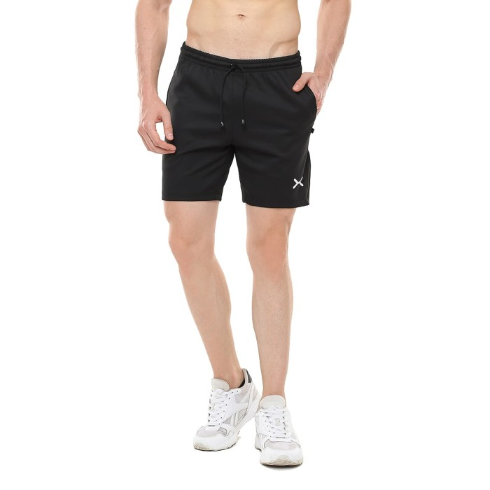 Foto Produk FLEXZONE Celana Pendek - Black - for Gym Running Jogging FCS-001HT - L dari FLEXZONE