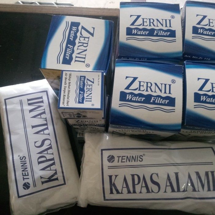 Paket 5 Filter Air Zernii Plus 5 Karbon Dan 5 Kapas Jakarta Barat