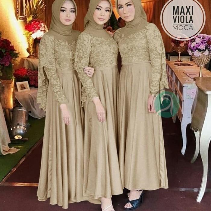 Jual Gamis Pesta Brokat Terbaru Maxi Viola Brukat Baju Muslim Wanita Dki Jakarta Moudis Shop Inc Tokopedia