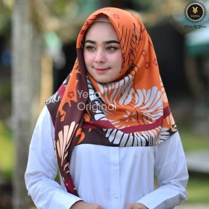 Segi4 bunga / jilbab flower / kerudung segiempat / hijab motif