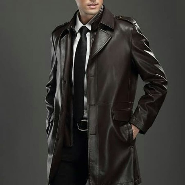 Jual jaket kulit/jaket kulit safari/jaket kulit jubah/jaket kulit ...