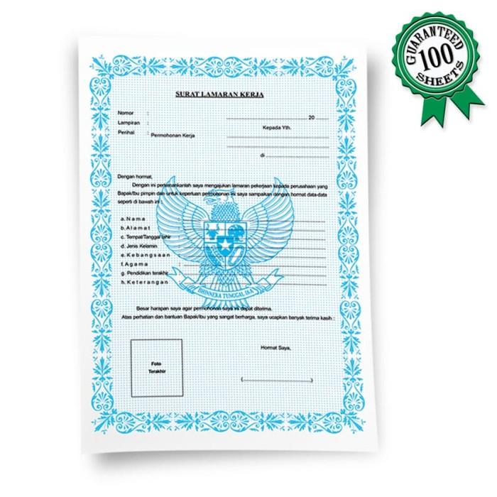 Jual Blanko Surat Lamaran Kerja 100 Lbr Kota Tangerang Triplee Stationery Store Tokopedia