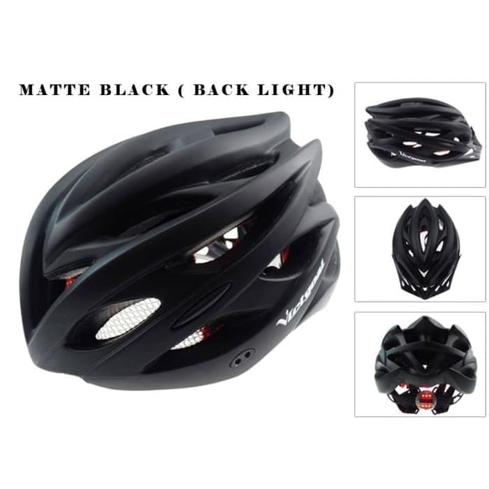 Foto Produk Helm Sepeda EPS PVC Shell dengan Lampu Backlight - Black dari JAG- Adventure Gear