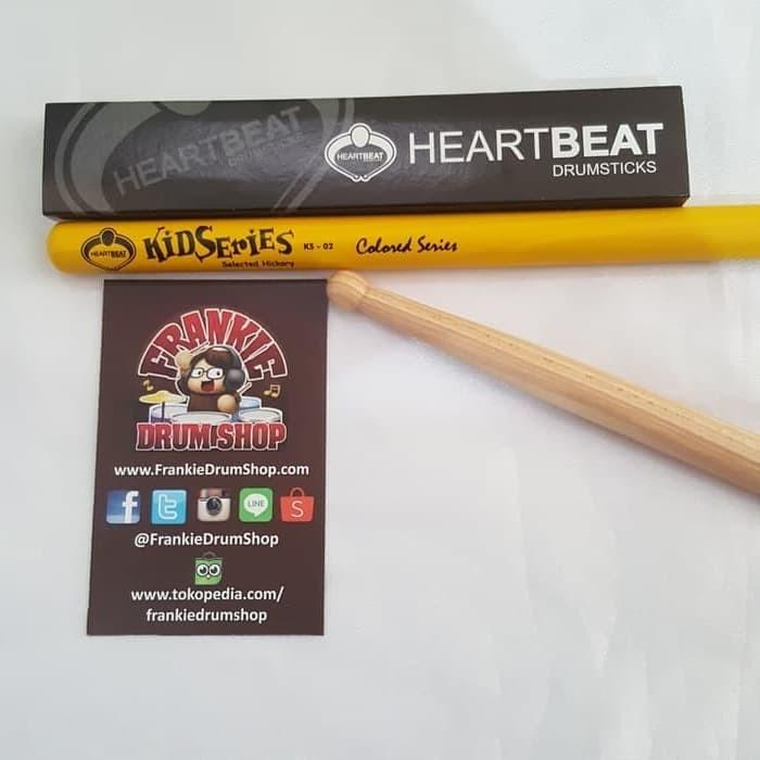 Foto Produk HeartBeat KS-02 - KIDSTICK Long Colored HBS Hickory Stick Drum - Kuning dari FrankieDrumShop