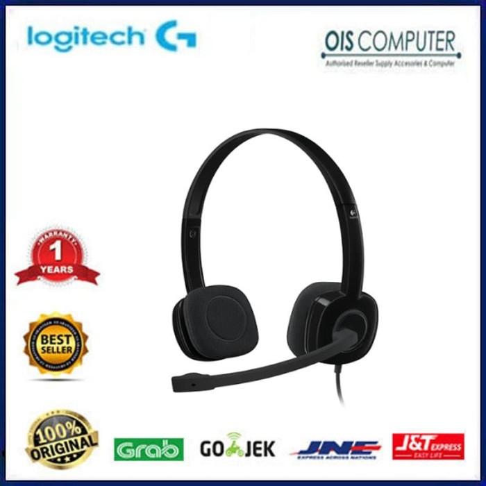 Logitech H151 Stereo Headset With Mic Headphone Earphone