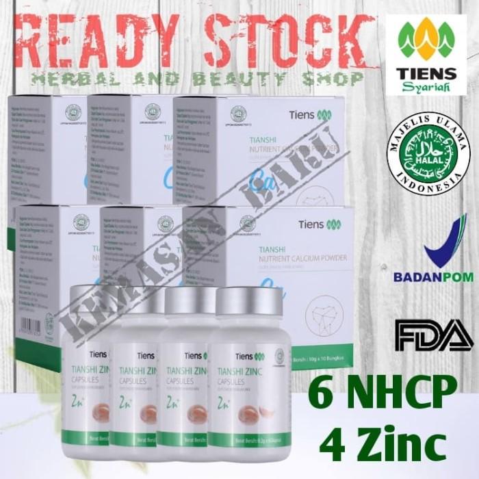 Foto Produk Paket Peninggi Herbal (6 NHCP + 4 Zinc) Peninggi Badan TIENS (30Hari) dari Herbal and Beauty Shop