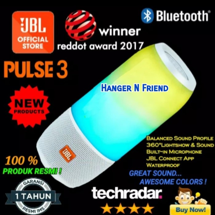 Jual JBL Pulse 3/ Pulse3 Wireless Bluetooth with IPX 7 Waterproof Speaker -  DKI Jakarta - HANGER N FRIEND | Tokopedia