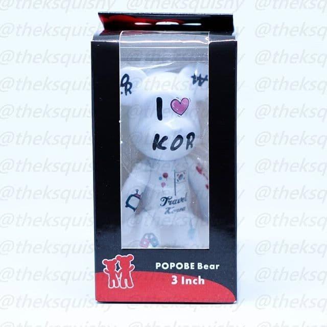 "Popobe Bear Toy Action Figure 3/""  Mario keychain"