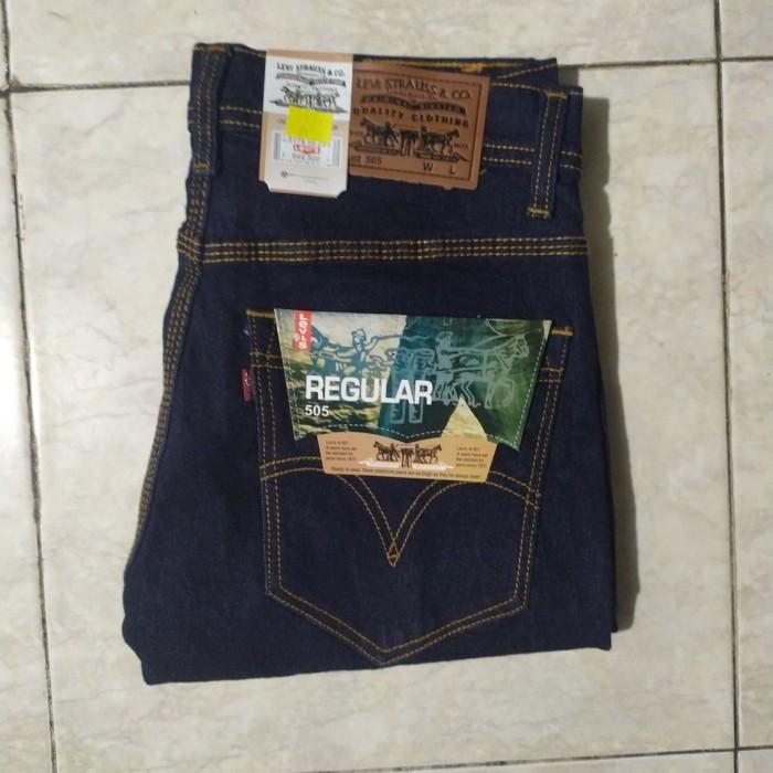 Foto Produk CeLana Jeans Levis Slimfit Biru Dongker 33-38 Bahan Melar Strech dari RevaJeansCoLLections