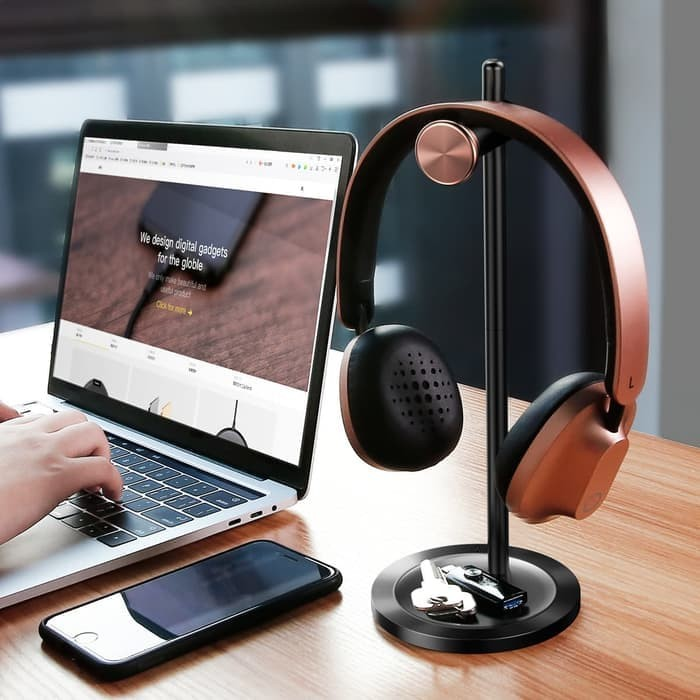 harga Baseus headphone headset stand holder hanger Tokopedia.com