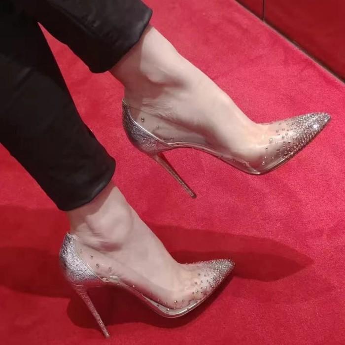 Jual High heels transparan bling-bling