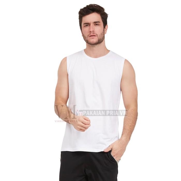 Foto Produk VM Kaos Dalam JUMBO Kaos Buntung Polos Putih - Putih, M dari VM VanMarvell