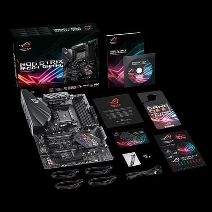 Foto Produk Motherboard ASUS - ROG STRIX B450-F GAMING Ryzen AMD AM4 ATX dari daftar harga komputer