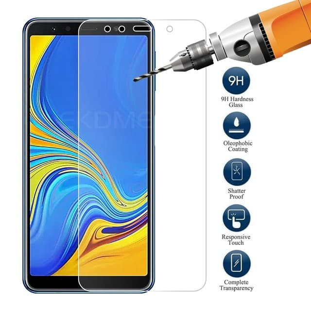 Foto Produk Tempered Glass 2.5D Samsung A7 2018 Anti Gores Screen Guard - Bening dari factory acc