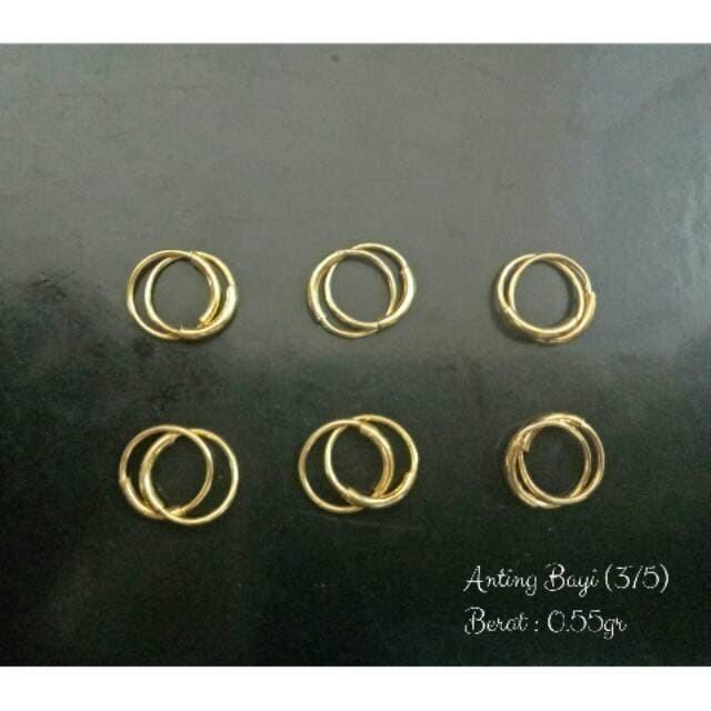 Foto Produk Anting Bayi Emas Muda Asli Kadar 375 /Anting Anak /Anting Anting dari Galeri Emas Asli