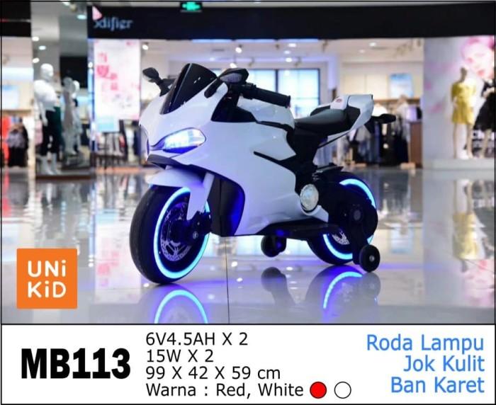 Foto Produk Mainan Anak Motor Aki Ducatti Unikid MB-113 Ban Karet dari BRECHT.ID