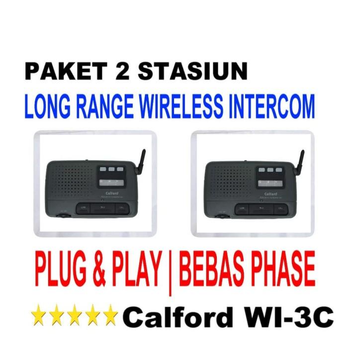 Foto Produk PAKET 2 STASIUN WI-3C - FM WIRELESS INTERCOM LONG RANGE CALFORD WI-3C dari EtalaseBelanja