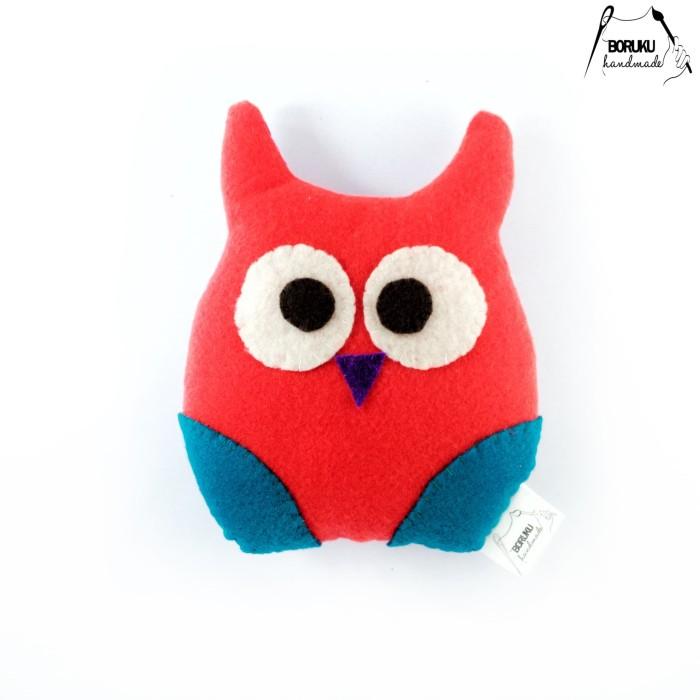 Jual Boneka Handmade Flanel Burung Hantu Owl Orange Plushie