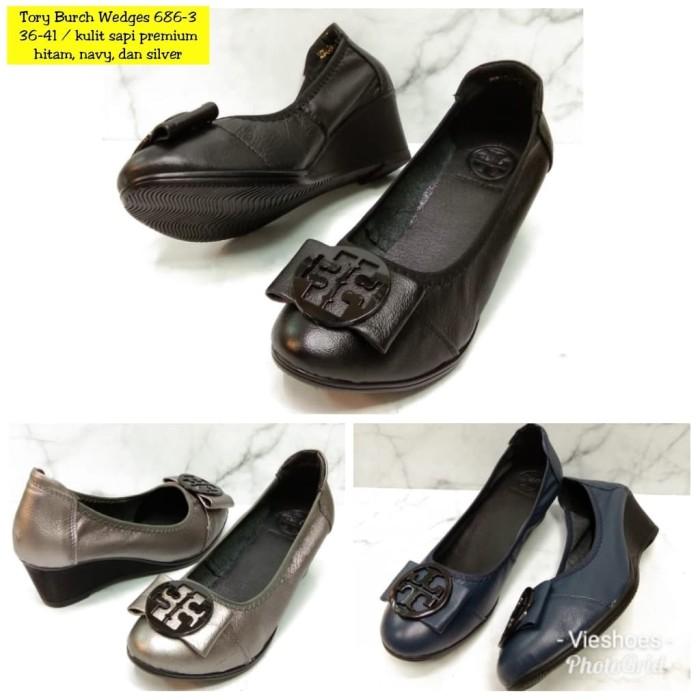 harga Sepatu wedges shoes leather tory 686-3 Tokopedia.com