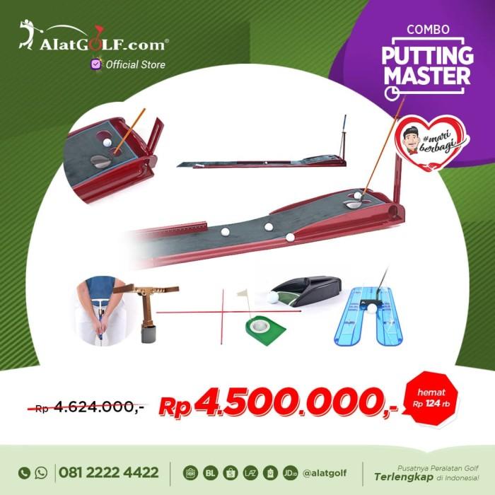 harga Combo golf putting mat master premium + alat bantu berlatih put Tokopedia.com