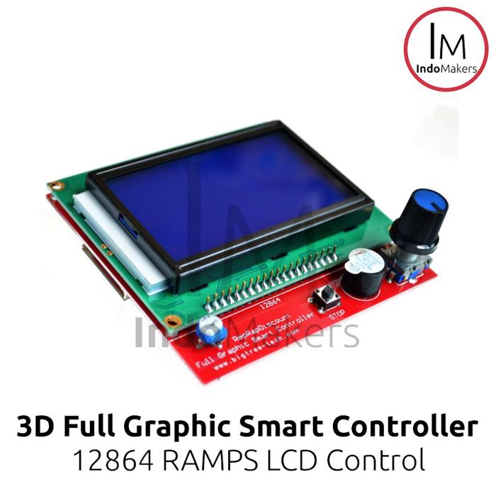 Jual 3D Printer Ramps 12864 LCD Reprap Full Graphic Smart Controller - DKI  Jakarta - IndoMakers | Tokopedia