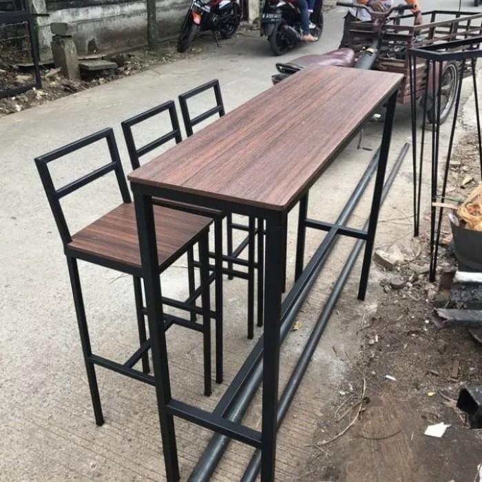 Jual Custom Meja Kursi Bar Sandaran Tinggi Meja Makan Meja Resto Cafe Kota Tangerang Selatan Chugbog Craft Tokopedia