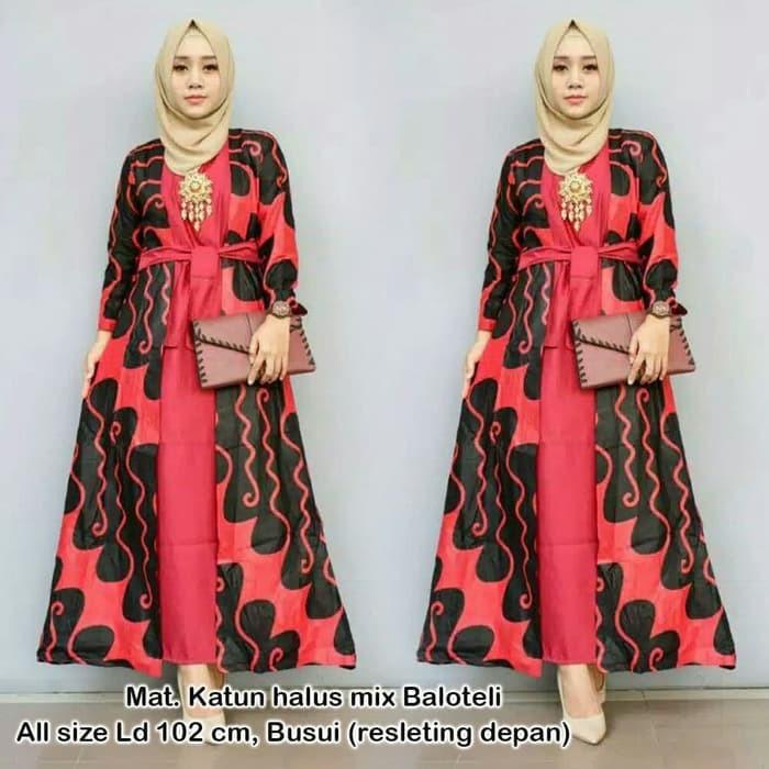 Jual Gamis Batik Pekalongan Baju Batik Wanita Muslim Maxi Dress Modern Kota Malang Benila Tokopedia