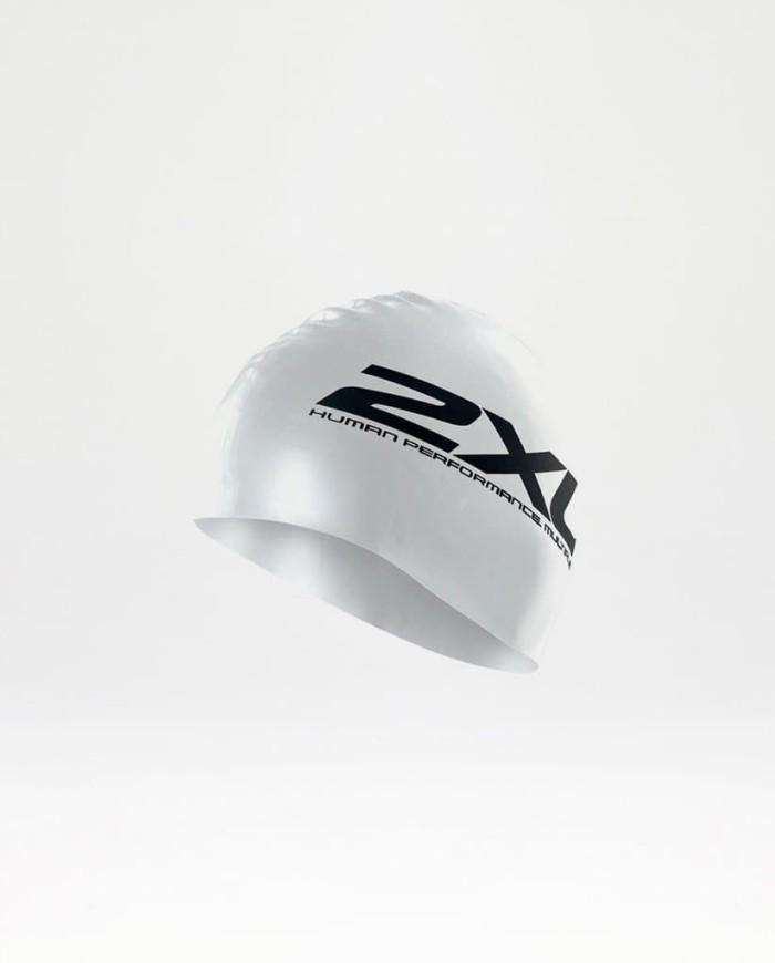 harga 2xu unisex silicone performance swim cap [us1355f] - putih Tokopedia.com