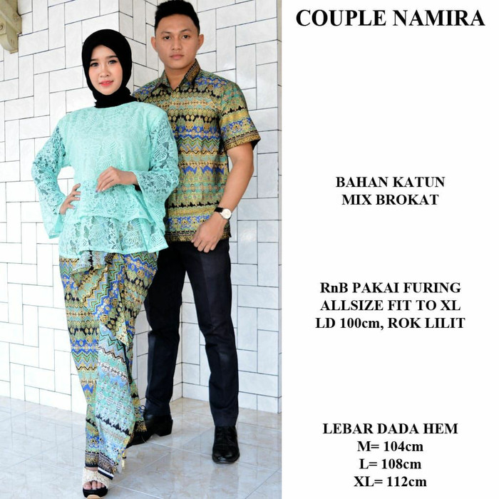 Jual Baju Couple Brokat Baju Kondangan Pesta Batik Couple Keluarga Modern Kota Malang Minikusis Tokopedia