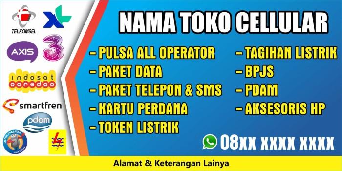 Jual Spanduk Banner Konter Pulsa 200 x 100 - Kota Kediri ...